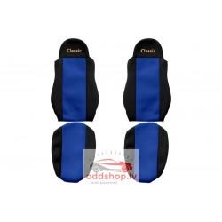 Sēdekļa pārvalks Classic zils, materiāls velūrs