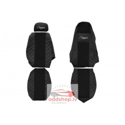 F-CORE Sēdekļa pārvalks Elegance melns, materiāls eko-āda, velūrs