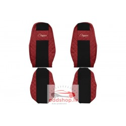 F-CORE Sēdekļa pārvalks Elegance sarkans, materiāls eko-āda, velūrs