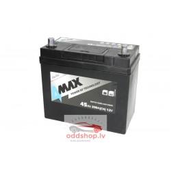 Akumulators 4MAX 12V 45Ah/330A (Labais+ jis + standarta) 238x129x227 B00 - montāža (starta)