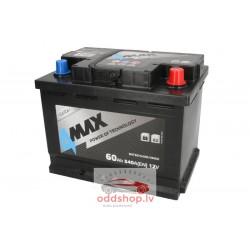 Akumulators 4MAX 12V 60Ah/540A (Labais+ standarta) 242x175x190 B13 - montāžas klemmes 10.5 mm (starta)