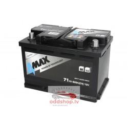 Akumulators 4MAX 12V 71Ah/620A (Labais+ standarta) 278x175x190 B13 - montāžas klemmes 10.5 mm (starta)