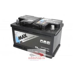 Akumulators 4MAX 12V 75Ah/700A (Labais+ standarta) 278x175x175 B13 - montāžas klemmes 10.5 mm (starta)
