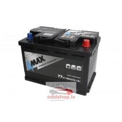 Akumulators 4MAX 12V 77Ah/760A (Labais+ standarta) 278x175x190 B13 - montāžas klemmes 10.5 mm (starta)