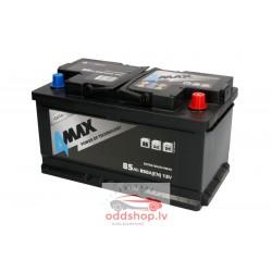 Akumulators 4MAX 12V 85Ah/850A (Labais+ standarta) 315x175x175 B13 - montāžas klemmes 10.5 mm (starta)