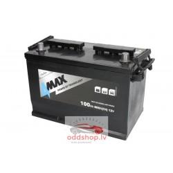 Akumulators 4MAX 12V 100Ah/800A (Labais+ standarta) 305x175x227 B01 - montāžas klemmes 10.5 mm (starta)